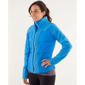 Lululemon St Moritz Jacket Beaming Blue Sz 8